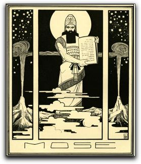 Herzl as Moses by E. M. Lillien