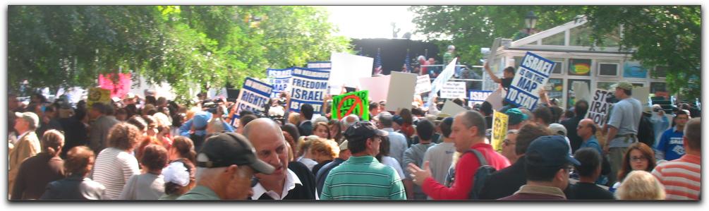 Stop Iran rally in Dag Hammarskjöld Plaza