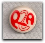 the lapel button for the Radical Zionist Alliance (Los Angeles, CA)
