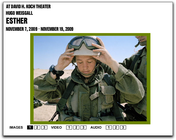 israeli soldier advertising the opera