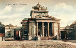 the great synagogue of Warsaw at Tłomackie street