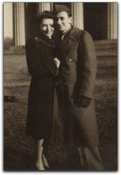 Nathan Hurvitz, Faye Hurvitz as newlyweds