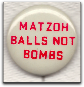matzoh balls not bombs