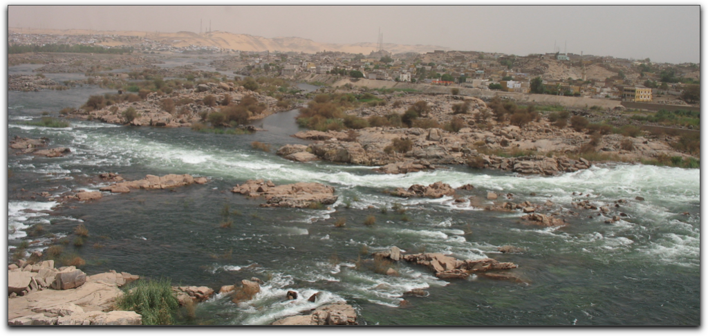 first cataract of the nile at aswan
