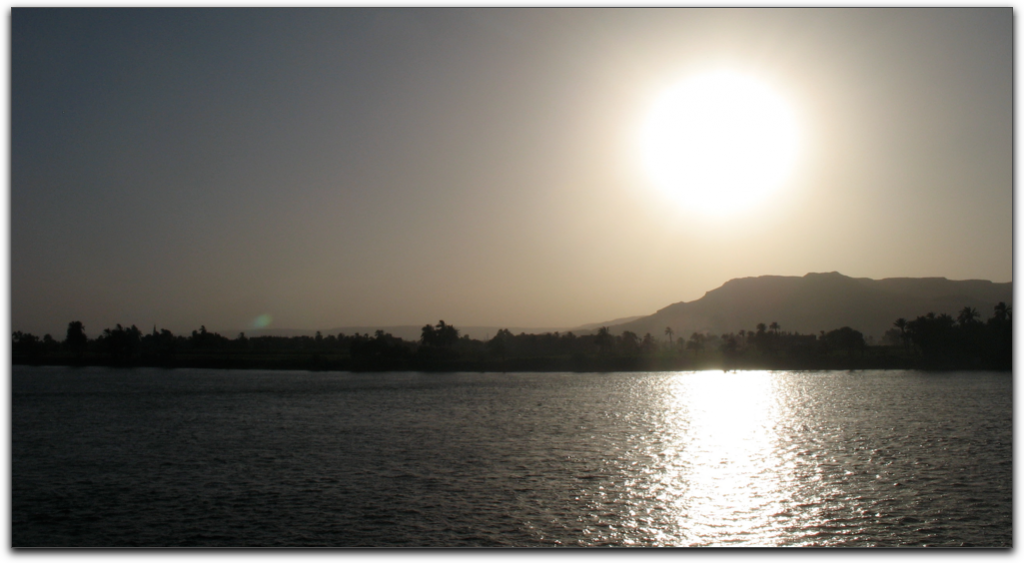 sunset on the nile anticipating שבת at luxor