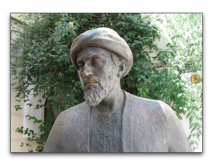 statue of maimonides in cordoba, spain
